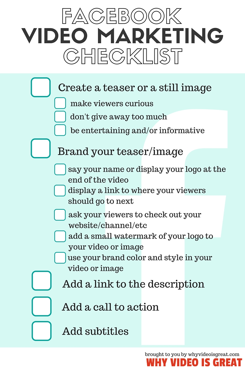 facebook video marketing checklist