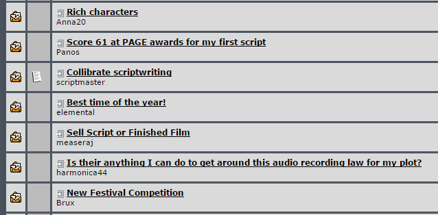 screenwriting topics