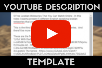 the ultimate YouTube description template