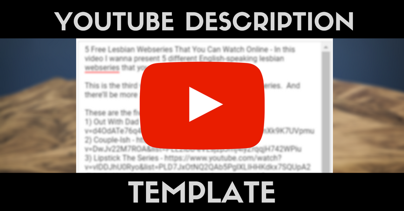 Youtube Template | The Perfect Youtube Description Template Why Video Is Great